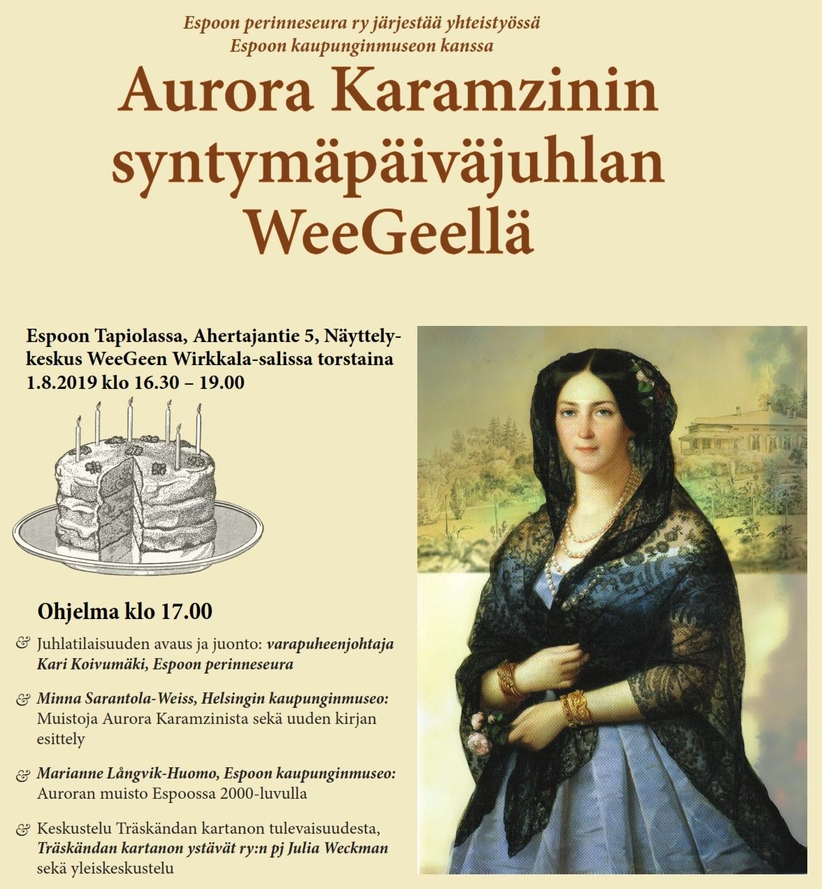 Kutsu Aurora Karamzinin syntymäpäiväjuhlaan